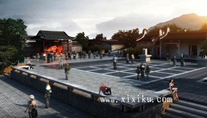 [广州]古村落生态保护与休闲景观改造方案-效果图2