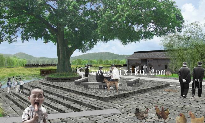 [广州]古村落生态保护与休闲景观改造方案-效果图3