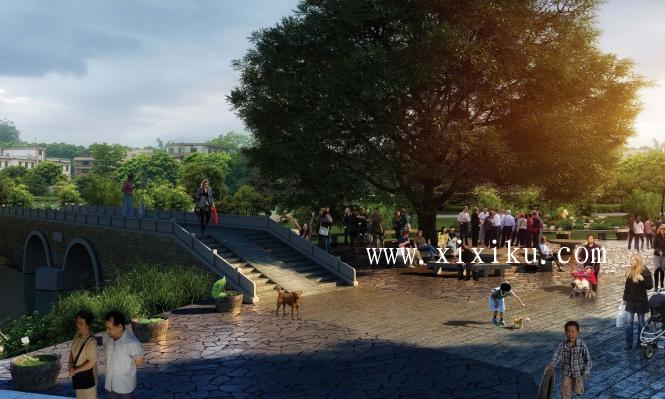 [广州]古村落生态保护与休闲景观改造方案-效果图4