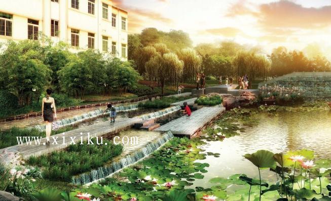 [广州]古村落生态保护与休闲景观改造方案-效果图5