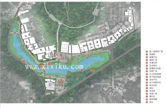[广州]古村落生态保护与休闲景观改造方案-平面图